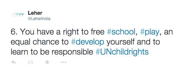 Child Rights In 10 Tweets | Leher NGO in India | Child Rights Organization