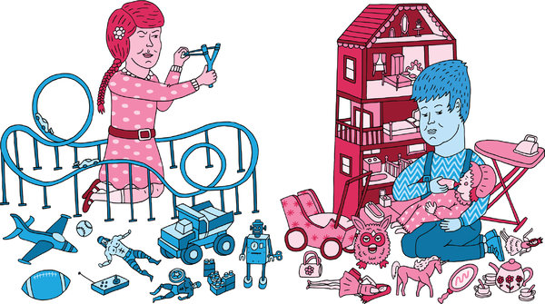 Illustration: Paul Windle/ NYTimes, Undressing Gender Stereotypes | Leher NGO in India | Child Rights Organization