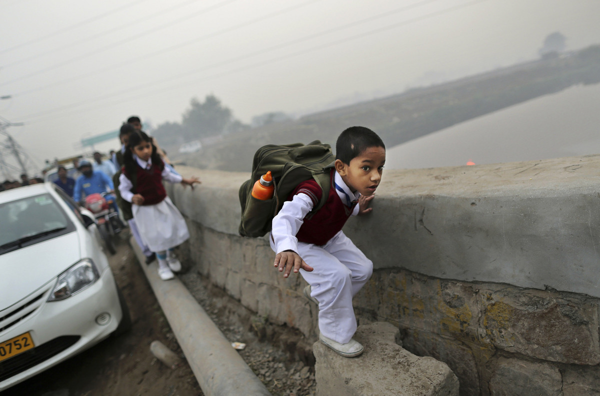 Photo: Kevin Frayer/ Associated Press, In Photos: A Rough Road To The Classroom | Leher NGO in India | Child Rights Organization