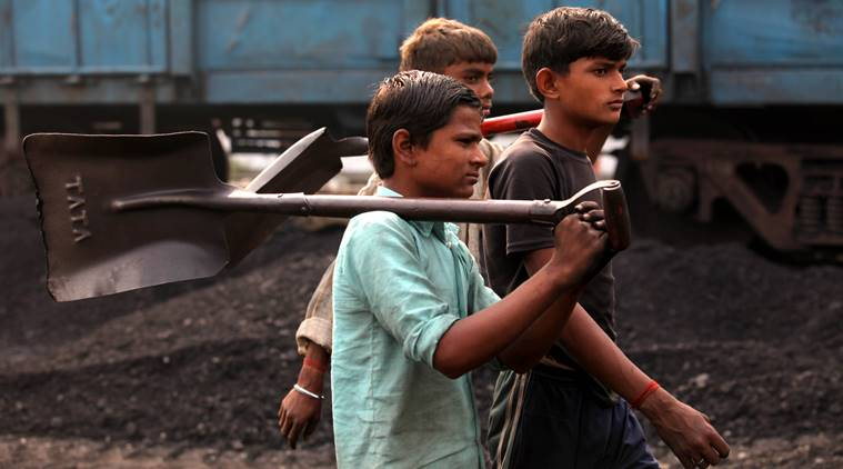 Child labourers return home after a day's work at the Katra railway station, Gonda, UP (Photo:Ravi Kanojia)