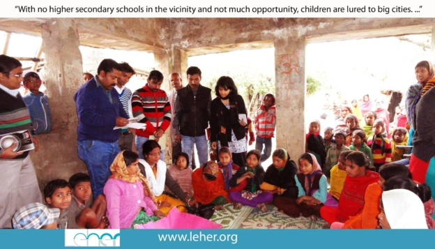 First interaction with the community in Madhubani   Child Rights Organization   NGO in India